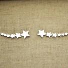 Pendientes de plata 925 6 estrellas