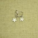 Pendientes de plata 925 círculo con estrella