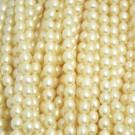 Perla cultivada grano de arroz 6 x 5 mm blanca