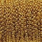 Cadena de hierro dorada eslabón circular de 3,3 mm