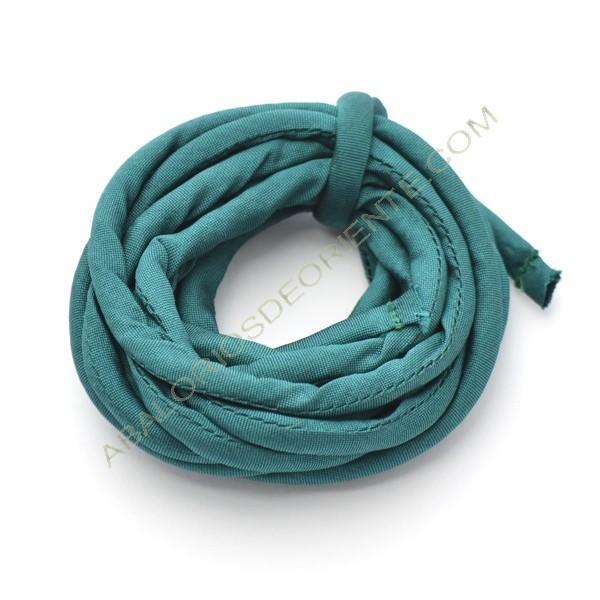 Cordón de seda natural india relleno 4 mm verde esmeralda