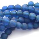 Cuenta de vidrio reciclado azul marino 12 x 12 x 12 mm