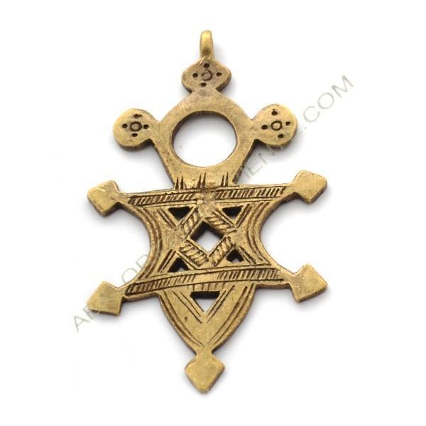 Cruz copta de bronce 80 x 50 x 3 mm