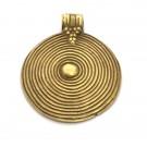 Colgante de bronce redondo espiral 43 x 40 x 7 mm