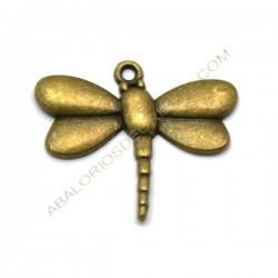 Colgante de metal libélula bronce