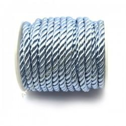 Cordón trenzado de algodón azul cielo 3 mm