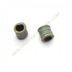 Entrepieza de aleación de Zinc tubo corto efecto bronce envejecido