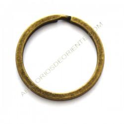 Llavero circular bronce