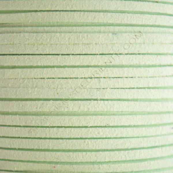 Cordón de antelina verde menta claro 3 x 1.5 mm