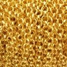Cadena de hierro color dorado. Eslabón circular de 5 mm