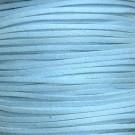 Cordón de antelina azul turquesa 3 x 1.5 mm