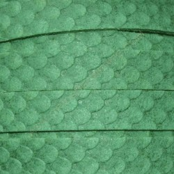 Cordón antelina serpiente verde esmeralda