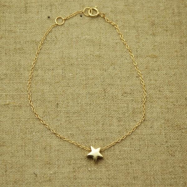 94b189f03604 Pulsera de plata 925 chapada en oro con estrella - Pulseras de plata ...