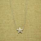 Cadena de plata 925 con estrella conectora