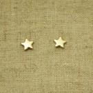 Pendientes de plata 925 chapado en oro estrella