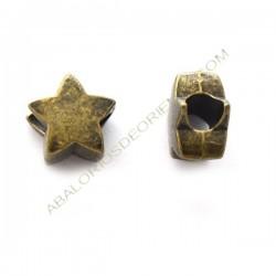 Entrepieza estrella bronce
