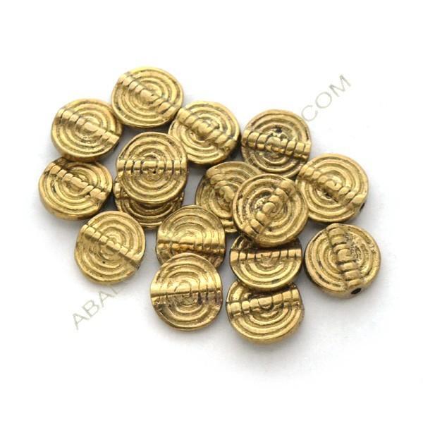 Entrepieza de bronce redonda plana espiral