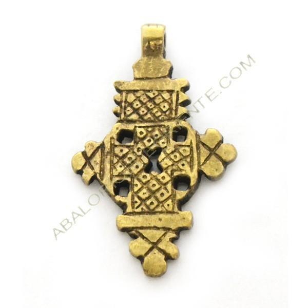 Cruz Copta de bronce 47 x 30 x 3 mm