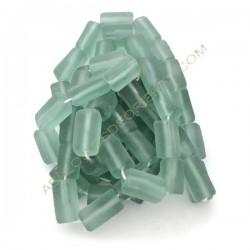Tubo rectangular de vidrio reciclado