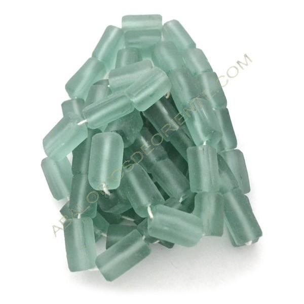 Tubo rectangular de vidrio reciclado verde claro