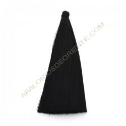 Pompón de algodón de 120 mm negro
