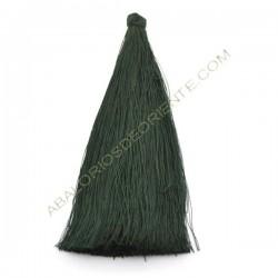 Pompón de algodón de 120 mm verde