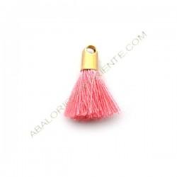 Pompón de algodón de 18 mm rosa dorado