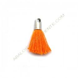 Pompón de algodón de 18 mm naranja plateado