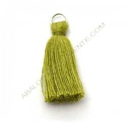 Pompón de algodón de 25 mm verde oliva