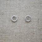 Pendientes de plata 925 círculo de 6 mm