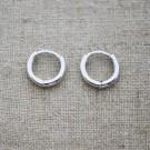Pendientes de plata 925 aro de 11 mm