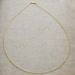 Cadena de plata 925 chapada en oro semirrígida
