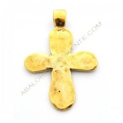 Colgante cruz dorada