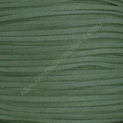 Cordón de antelina verde caza 3 x 1.5 mm