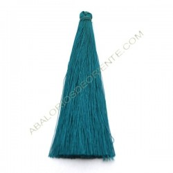 Pompón de algodón de 70 mm azul turquesa