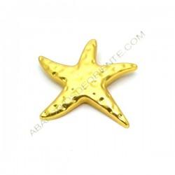 Colgante de aleación de Zinc dorado mate estrella