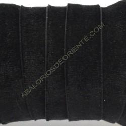 Cinta de terciopelo elástico negro de 20 mm