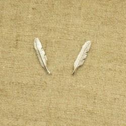 Pendientes de plata 925 pluma
