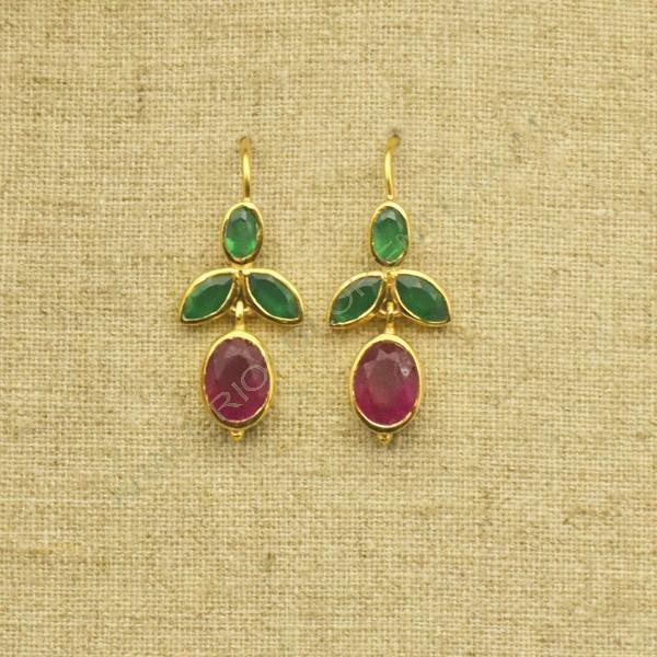 Ágata rubí y ónix verde