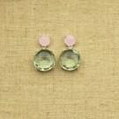 Pendientes de plata 925 con dos semipreciosas redondas