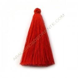 Pompón de algodón de 70 mm rojo