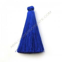 Pompón de algodón de 70 mm azulón