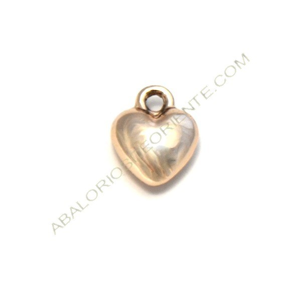 Colgante de aleación de Zinc corazón chapada en oro