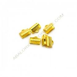 Terminal de metal dorado 8 x 10 mm