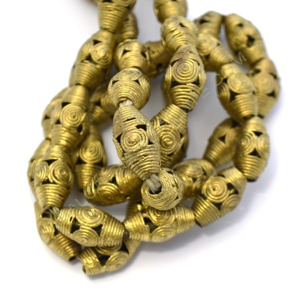 Entrepieza de bronce tonel con espirales 2