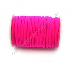 Cordón de Lycra elástico 5 mm rosa fucsia