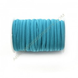 Cordón de Lycra elástico 5 mm azul turquesa