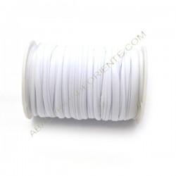 Cordón de Lycra elástico 5 mm blanco