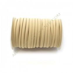 Cordón de Lycra elástico 5 mm beige