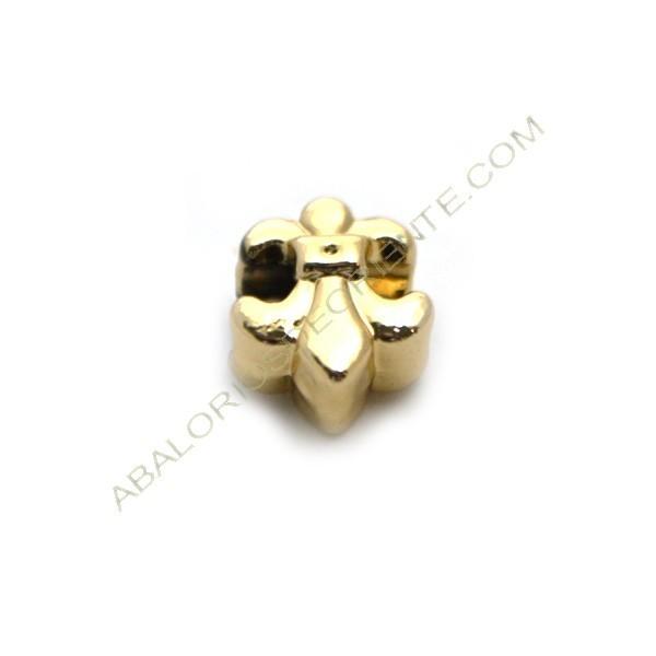 Entrepieza pasador de aleación de Zinc Flor de Lis chapada en oro